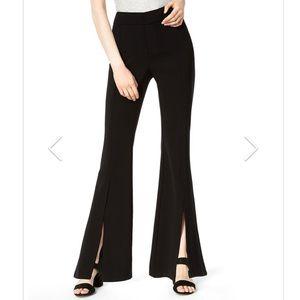 NWOT Bar III split front flare pants black